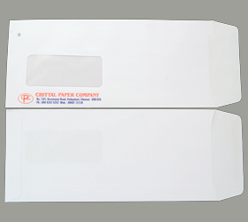 MAIL FAST WINDOW WHITE 80 GSM 10.5 X 4.5 INCHES