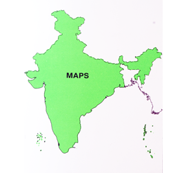 OUTLINE MAP-INDIA
